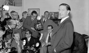 Kim Philby gives a press conference in 1955