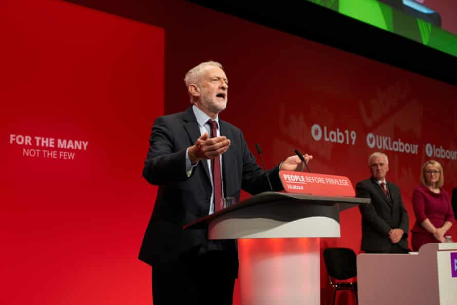 Jeremy Corbyn at the 2019 Labour conference