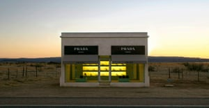 Elmgreen and Dragset's adobe Prada Marfa store in Texas, 2006
