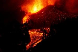 Lava bubbles on the volcano