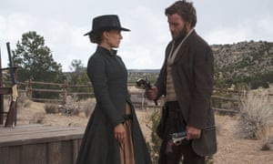 Natalie Portman and Joel Edgerton in Jane Got a Gun, 2015
