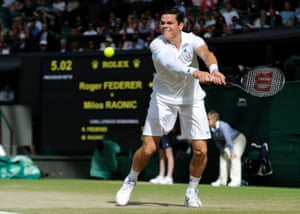 Milos Raonic reached the Wimbledon semi-finals in 2014, losing to Roger Federer