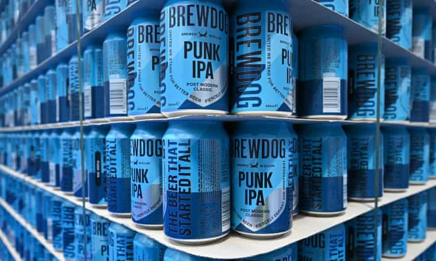 BrewDog cans on shelves
