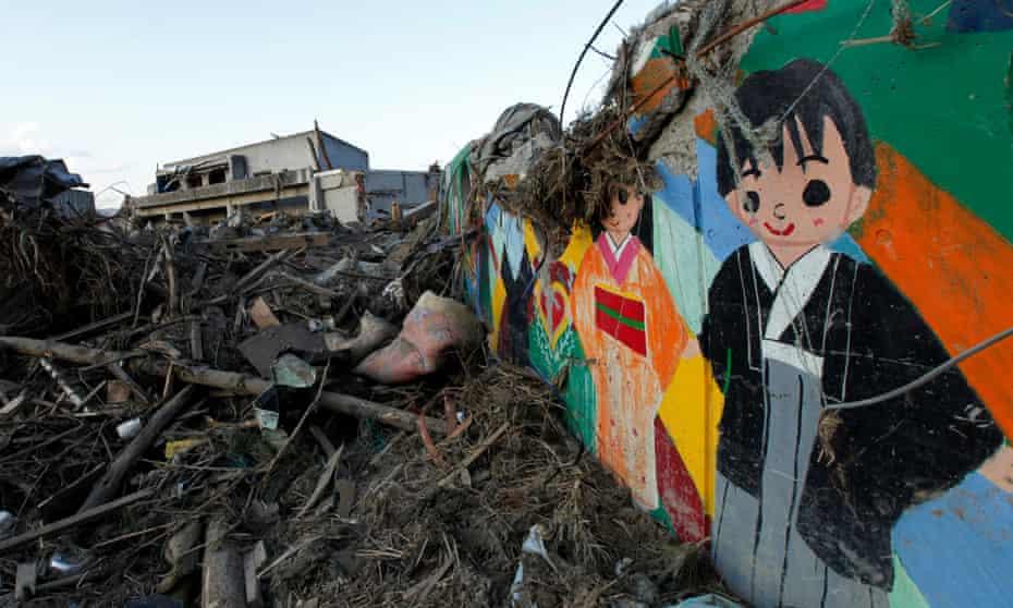 The tsunami-hit Okawa Elementary School in Ishinomaki, northeastern Japan March 28, 2011.