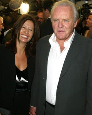 Hopkins with his wife, Stella.