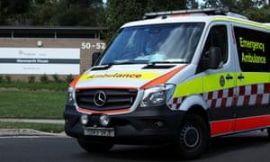 An ambulance outside Newmarch House