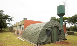 The facilities at Anápolis airbase, where evacuees from China will be confined