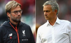José Mourinho has not enjoyed a trouble-free start to life at Manchester United and faces a tough game against Jürgen Klopp's Liverpool side at Anfield.