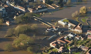 Flooding in Tadcaster, North Yorkshire, in December.