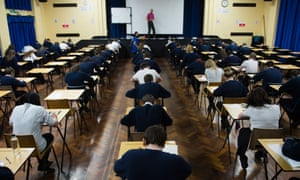 GCSE students sitting an exam