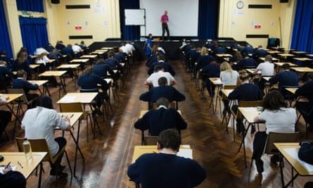 Schoolchildren taking exams