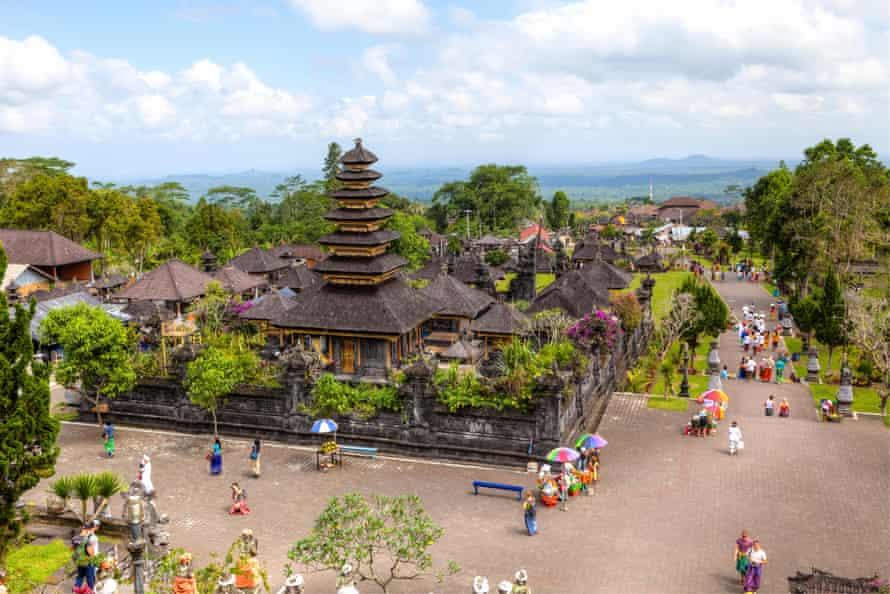 Large Balinese pagodas,