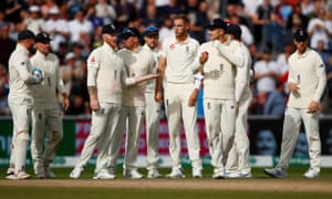 The England during their defeat at Old Trafford in the fourth Ashes Test