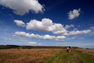 Landscape near Twmbarlwm bronze age hill fort, South Wales