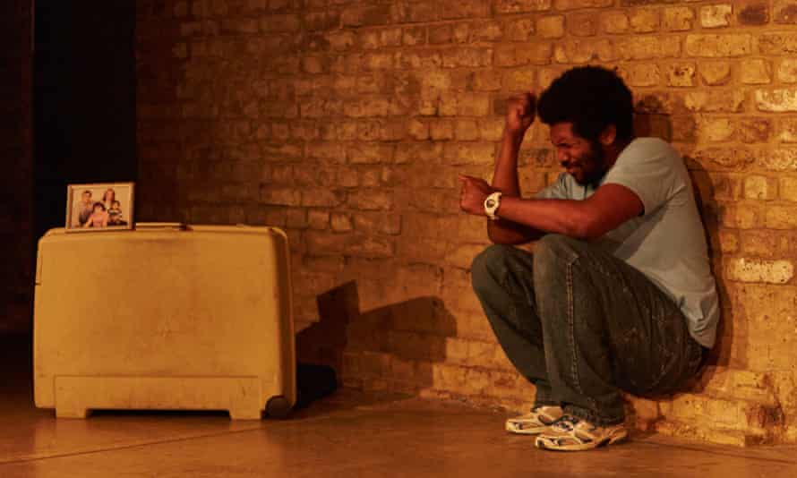 Lladel Bryant as Ishmael in Nine Lives at the Arcola theatre.