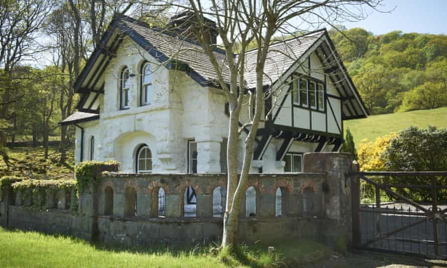 White Lodge, a National Trust cottage on the Dolmelynllyn Estate, Gwynedd, Wales.