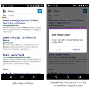 The content on Free Basics is very limited