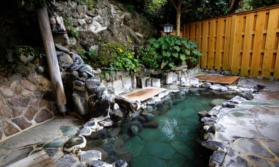 Outdoor onsen, Japan