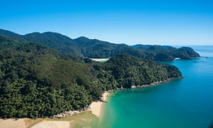 The view from Abel Tasman Marahau Lodge, Sandy Bay, New Zealand.