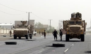 Yemeni government forces in Hodeidah military operations