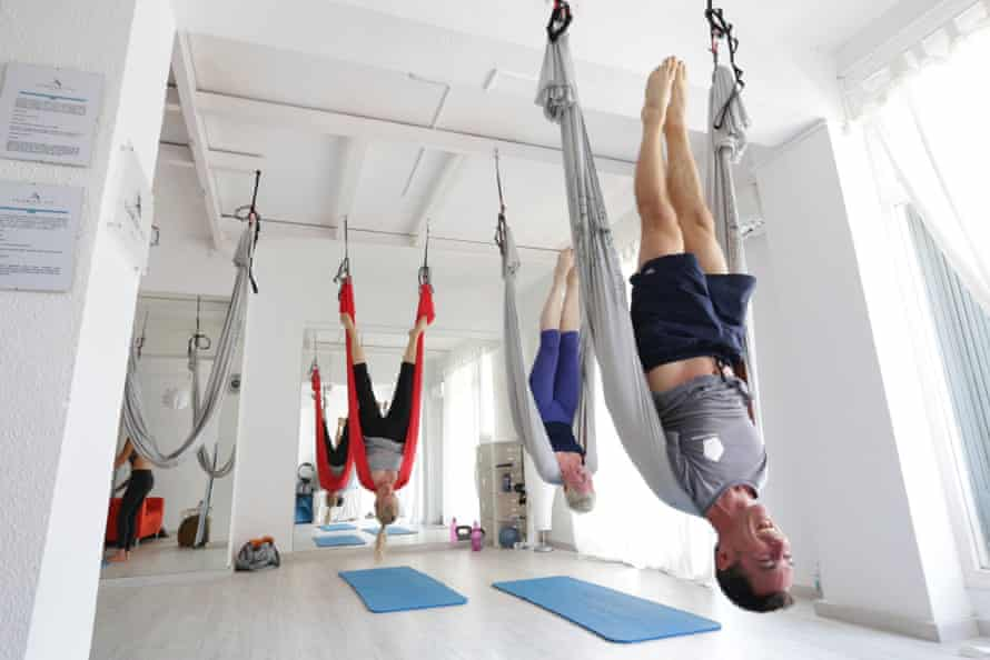 The yoga room at Tekne Fitness Retreats Ibiza.