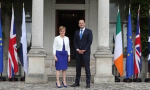 Nicola Sturgeon meets with Ireland's taoiseach, Leo Varadkar, at Farmleigh House in Dublin