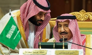 Crown Prince Mohammed bin Salman, left, with King Salman