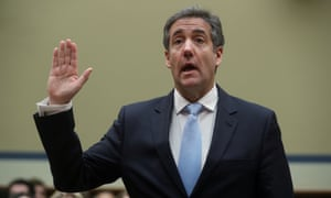 Michael Cohen is sworn in to testify before a House committee on oversight and reform hearing on Wednesday.