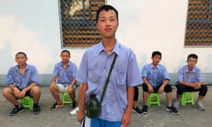 Xiong Chengzuo, who says his parents tricked him into attending a boot camp for internet addicts.