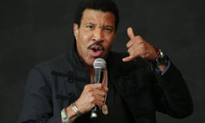Glastonbury calling … Lionel Richie performs on the Pyramid stage.