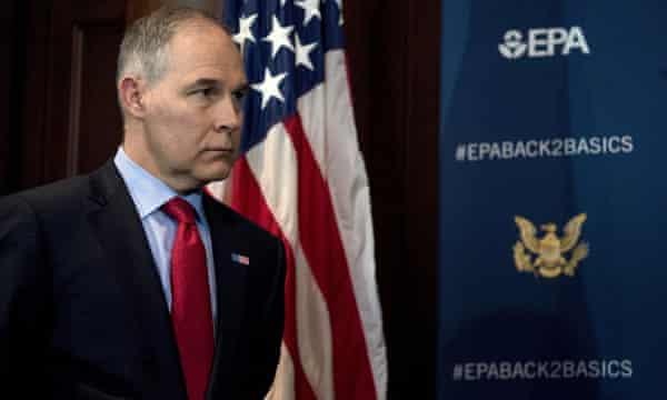 The EPA administrator Scott Pruitt.
