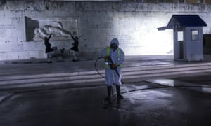 Disinfection work at Syntagma Square as Greece extends its coronavirus curfew