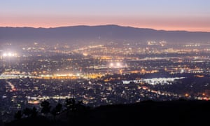 Silicon Valley at dusk