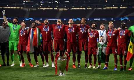 0fdf585389c3 Liverpool win Champions League after beating Spurs 2-0 in final – as ...
