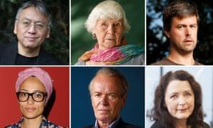 Clockwise from top left: Kazuo Ishiguro, Jane Gardam, David Szalay, Helen Simpson, Martin Amis, Zadie Smith are among the anthology's 30 authors
