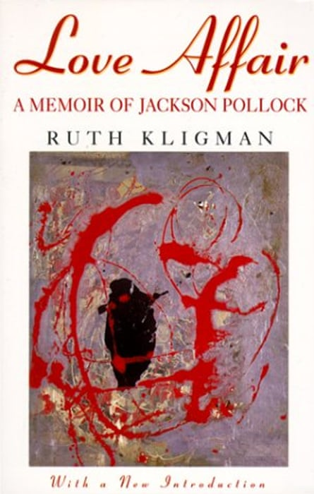 Love Affair: A Memoir of Jackson Pollock by Ruth Kligman, featuring the painting in question, Red, Black and Silver.