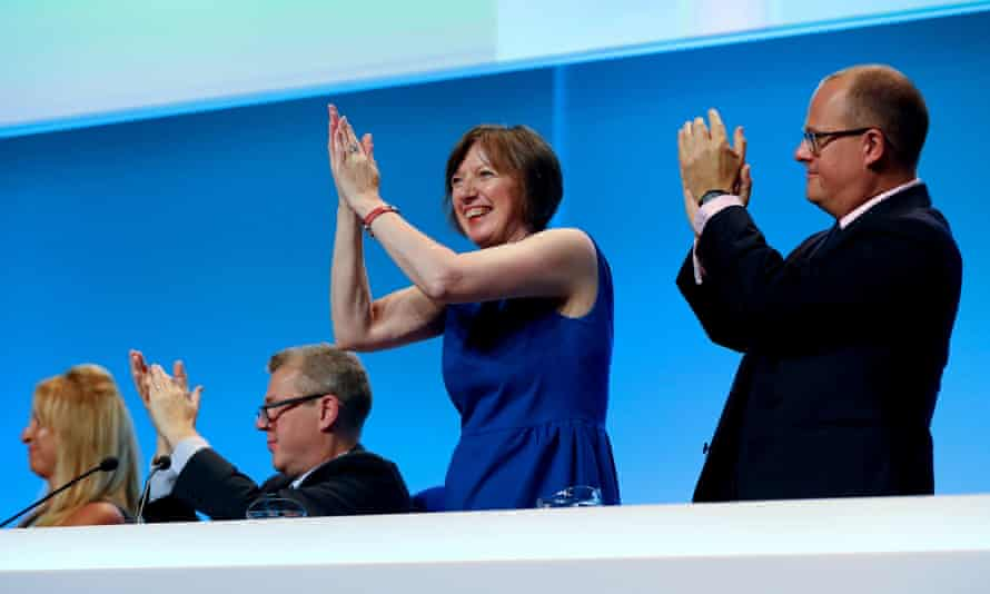 Frances O'Grady, seen here at last year's TUC Congress in Brighton, is calling for a 'national recovery council' of unions, government and business.