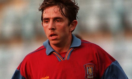 Gareth Farrelly in action for Villa reserves in April 1997, three months before he signed for Everton.