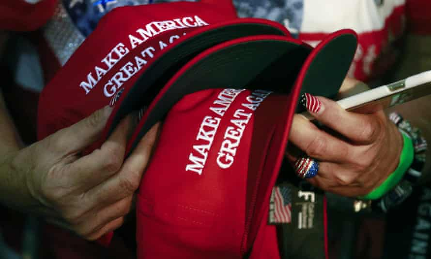 Donald Trump's signature 'Make America Great Again' baseball cap. Justice Bernd Zabel wore one into his courtroom on the day after the US election last November.