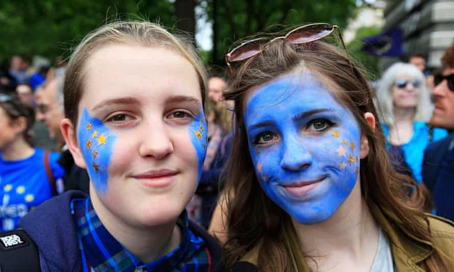 Two remain supporters in London during the referendum campaign last summer.