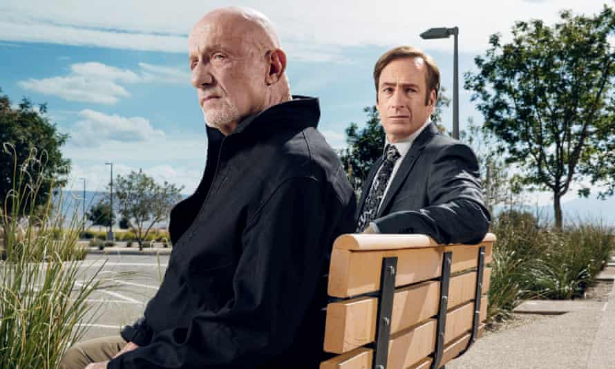 Together again? … Jonathan Banks as Mike Ehrmantraut and Bob Odenkirk as Jimmy McGill.
