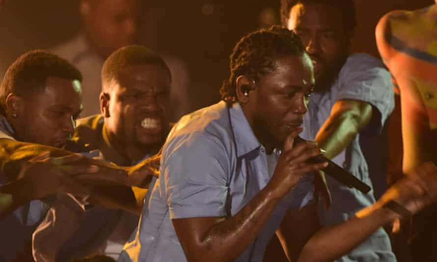 Kendrick Lamar at the Grammys.