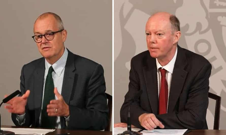 Sir Patrick Vallance (left) and Chris Whitty