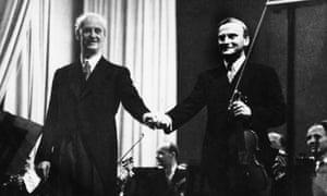 Menuhin with Wilhelm Furtwängler (right) in Berlin.