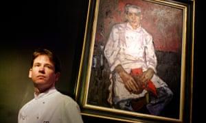 Andrew Fairlie in his restaurant at Gleneagles Hotel in 2002.
