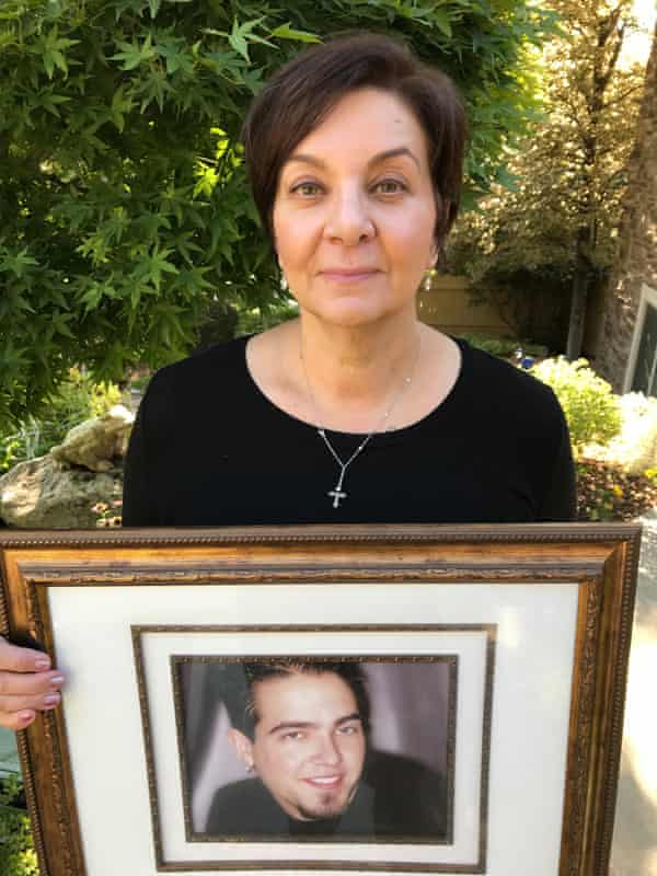 Sandra Kresser with a picture of her son, Josh.