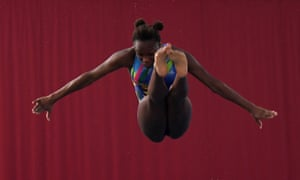 Desharne Bent-Ashmeil of Crystal Palace Diving Club dives during the final of the women's 1M atthe British Diving Championships at Plymouth Life Centre in January 2020.