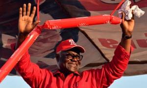 Ernest Bai Koroma at a campaign rally