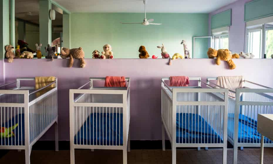Empty beds in Dakar's Pouponnière. Initially founded in 1955 to help overwhelmed hospitals, the orphanage's main purpose today is to care for abandoned or orphaned babies.