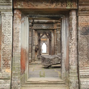 Close up detail of the Preah Vihear Temple, Cambodia